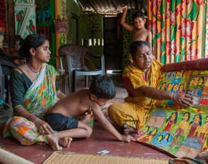Traditional artists Susama and Rani Chitrakar, West Medinipur District