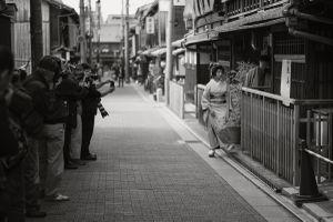 Unchanged Kyoto-Geisha
