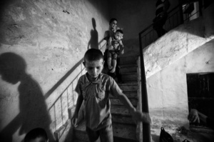 To the bomb shelter, Aleppo