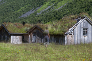 former pastoral house, like all in central Norway made of natural materials