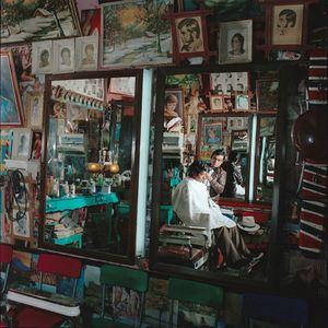 Barbershop, San Cristobal de las Casas, Chiapas, 1985