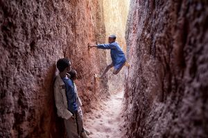 Lalibela, Ethiopia: Kids playing on the corridors of Bet Mariam © Matjaz Krivic