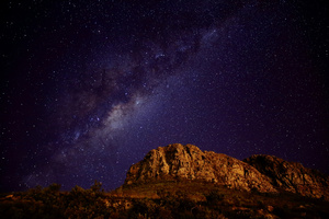 Galaxy / A starry night on the mountains between Cape Town and the Karoo, South Africa. A single shot with no Photoshop post processing. This region is one of the best places in the world to photograph the night sky.