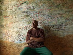 Hakeem in His Room of Thoughts, Eastside, Detroit 2012