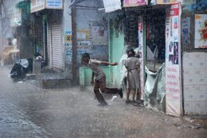 No way to keep the school uniform dry when monsoons pour out with no notice