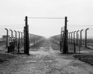 The so-called Path of Death, which led directly from the ramp to the gas chambers - KL Auschwitz II - Birkenau