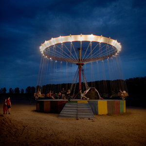 A swing ride at the Dniestr river, at the beach resort Vadul-lui-Voda.