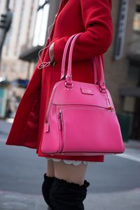 Young Woman with Pink Bag