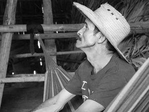 In the tobacco hut