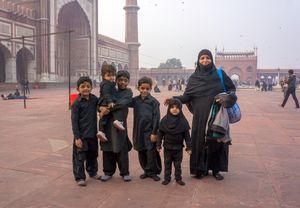 Muslim Family, Jama Masjid Mosque, Delhi