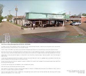 Street Scene, Tchula, Mississippi Delta (33°18'23.42, -90°22'20.80)