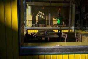 Yellow shadow, Endicott, NY 2016