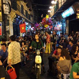 GIrl on bike at Hanoi