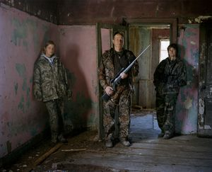 hunters at old farm # I, south africa-from the series 'hunters'-David Chancellor