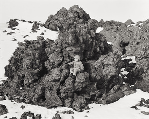 Emmett on a Lava Flow, Craters of the Moon National Monument, Idaho