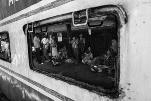 IMPRESSIONS AT THE OLD DELHI RAILWAY STATION 53