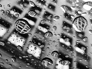 Raindrops in the city 1