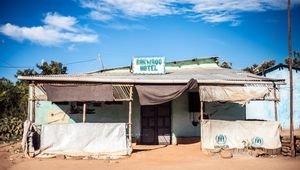 Barwado Hotel, a Somali hotel that re-uses the UNHCR tents as walls