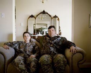 untitled professional hunter and son, eastern cape, south africa-from the series 'hunters'-David Chancellor