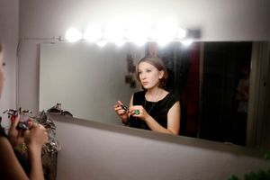 Marlene, preparing to go out. Vienna, 2011.