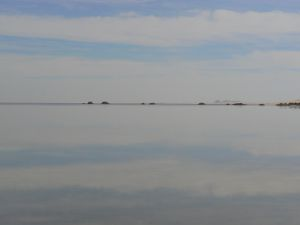 Photographic portrait of part of   Siwa Oasis (Egipt) [salt lakes]