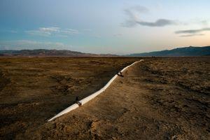 LADWP Irrigation Pipe, Owens Lake, CA