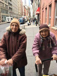 Sisters walk in Manhattan