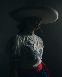 Suzanna, after riding Escaramuza.