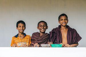 Young monks at the Unawatuna temple