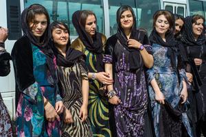 Women at a festival in Barzan