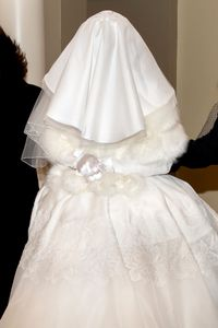 Winter Bride with gloves