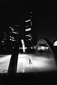 Skater, City Hall, Toronto, 1980