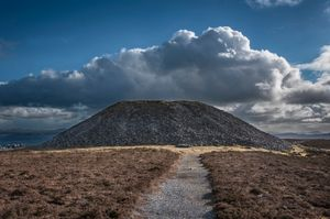 Queen Maebh's Cairn, Knocknarea, Co Sligo, Ireland.