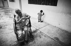 "Laura Avila from Honduras is 51 years old.  She lost her leg travelling on ""La Bestia"" in Torreon Coahuila"