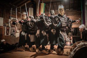 Golden mask dance