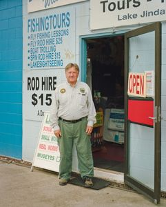 Fishing tours and tackle shop owner.