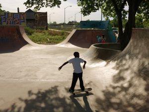 Young Boy in Skateboard Park, Eastside, Detroit 2013