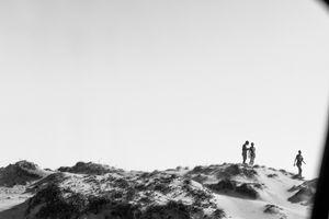 On The Move - Kids Playing On Sand Dunes