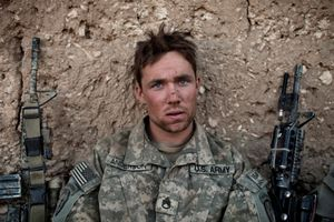 U.S. Army Sergeant Anderson, after a patrol in the Tangi Valley, Wardak Province, Afghanistan, on September 11, 2009. © Adam Ferguson