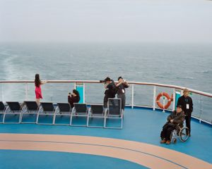 Photo opportunities at the stern of the ship