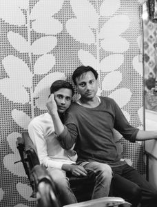Akhtar was eager for us to meet his best friend Dilshaad in his barber shop.  Some of Akhtar's neighbors call him 'sister'.  Males Kotla.  Punjab 2017