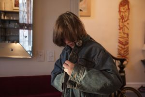 Adrien Departing for School, from Teen Tribe © Martine Fougeron