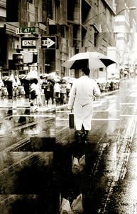 NYC Street Portrait in the Rain