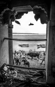 India From The Window Frame