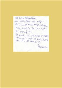Letter from Rozalia