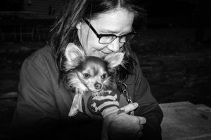 Woman With Her Baby Dog, Hillsdale, NY.