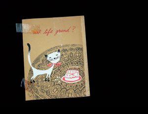 Scrap, birthday card