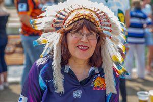 Angela - Exeter Chiefs Rugby Fanatic, Twickenham Stadium, London 2018