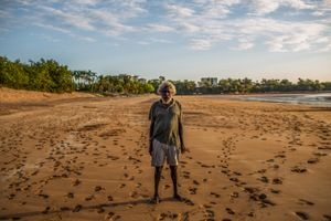Darwin, Mindil beach. Marri, 43. Without anywhere that is home, Indigenous people have been without a physical space to reinvent themselves and their culture in modern Australia.