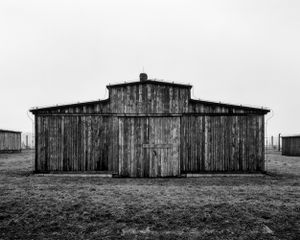 Wooden barrack in the male section, stable type - KL Auschwitz II Birkenau